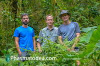 Pablo Valero, Frank Hennemann and Oskar Conle (from left to right) during an expedition in Panama, 2018.
